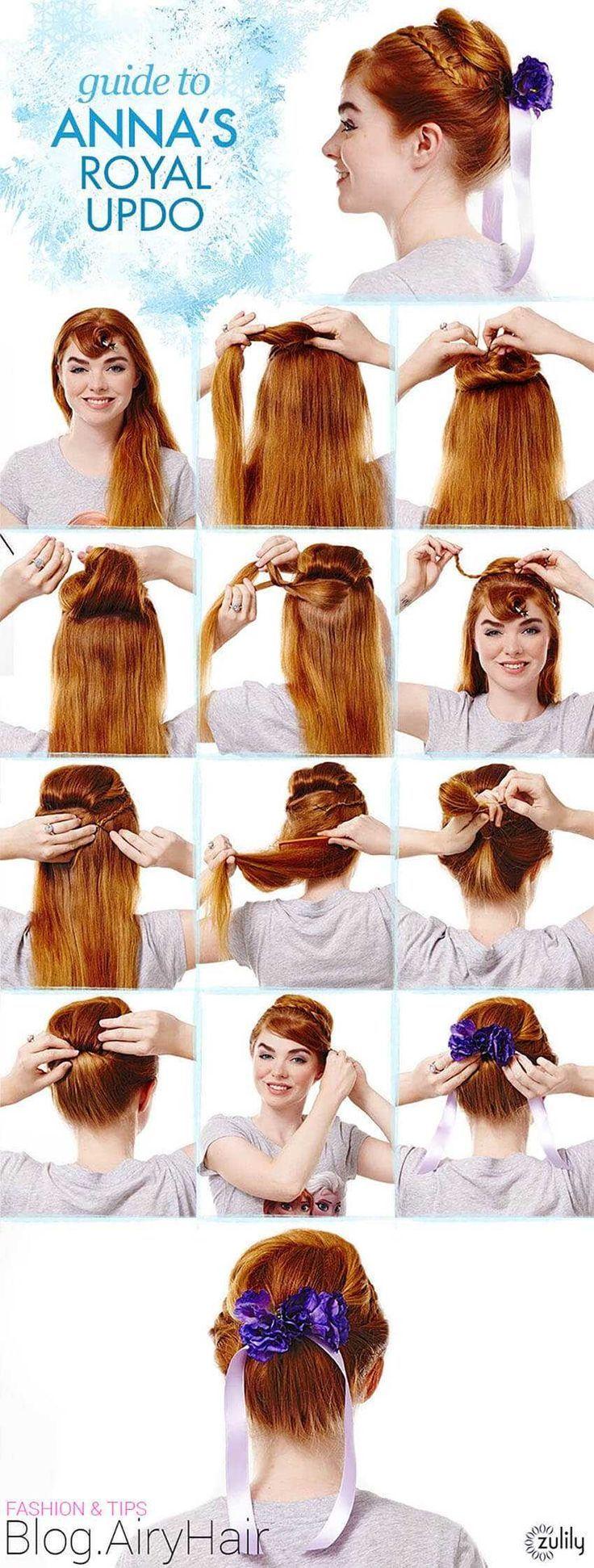 Step By Step Disney Frozen Elsa Anna Step Hair How To 2020 Frozen Hair Tutorial Frozen Hair Frozen Hairstyles