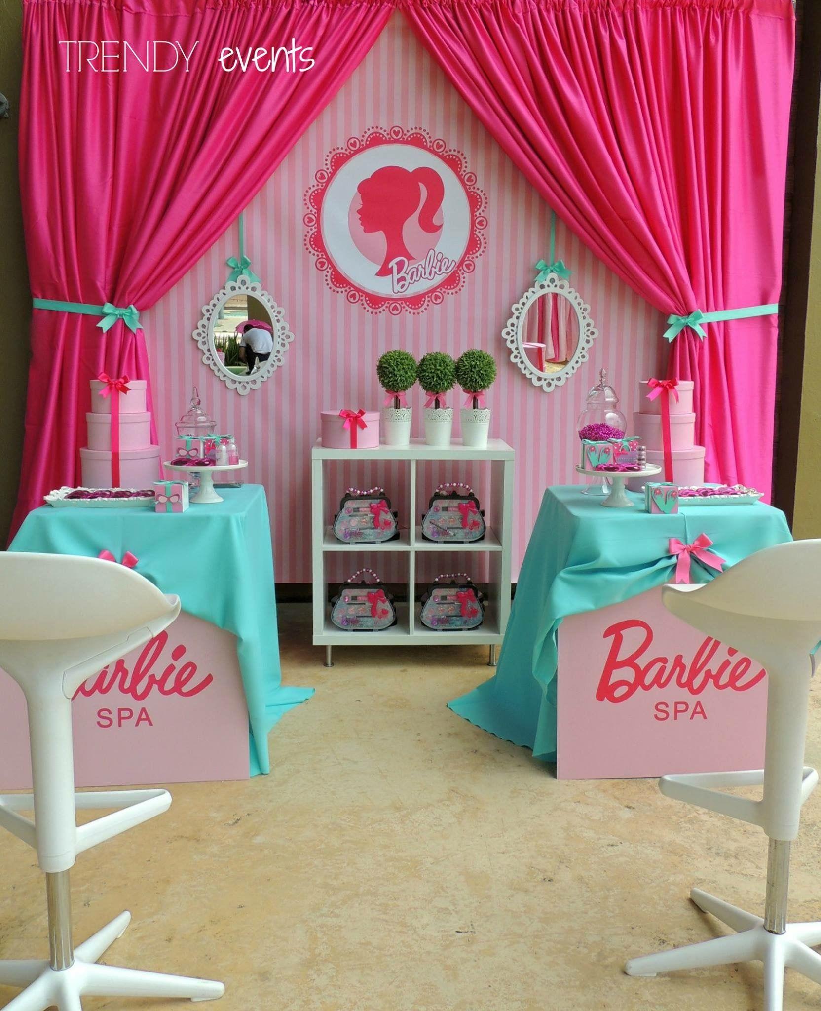 Duel Birthday Decor Zebra Barbie And Princess Themes: Simple Barbie Theme Party Barbie Birthday Party Girls