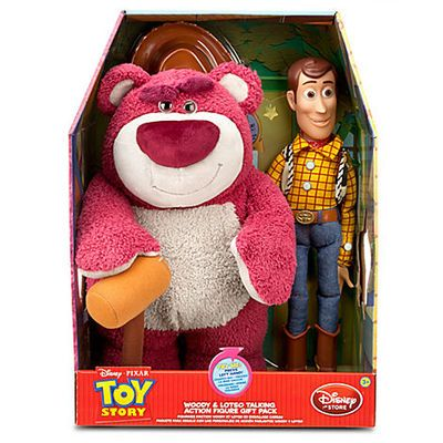 NEW Disney Pixar Toy Story Woody and Lotso Talking Figures Gift Pack Set