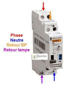 Montage Cablage Branchement D Un Telerupteur Et Boutons Poussoirs Comment Brancher Un Teler Electricite Schema Plan Electrique Maison Contacteur Electrique