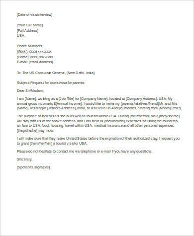 Immigration Affidavit Of Support Letter Example Support Letter