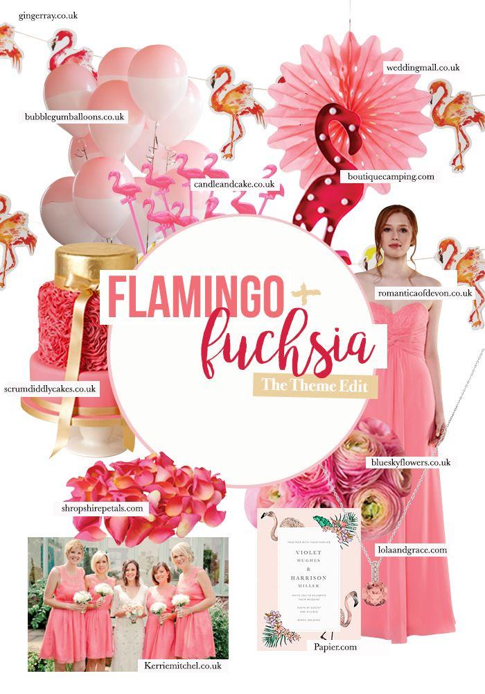 The Wedding Theme Edit Flamingo Fuchsia Wedding Planning