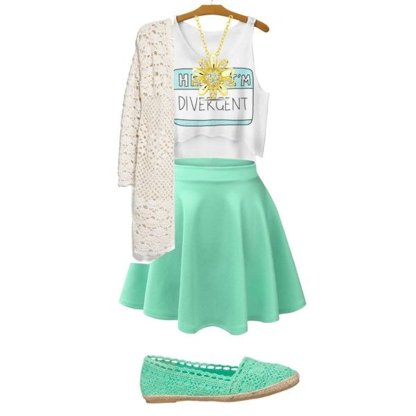 Divergent green by gracerankcom on Polyvore featuring polyvore fashion style MANGO maurices