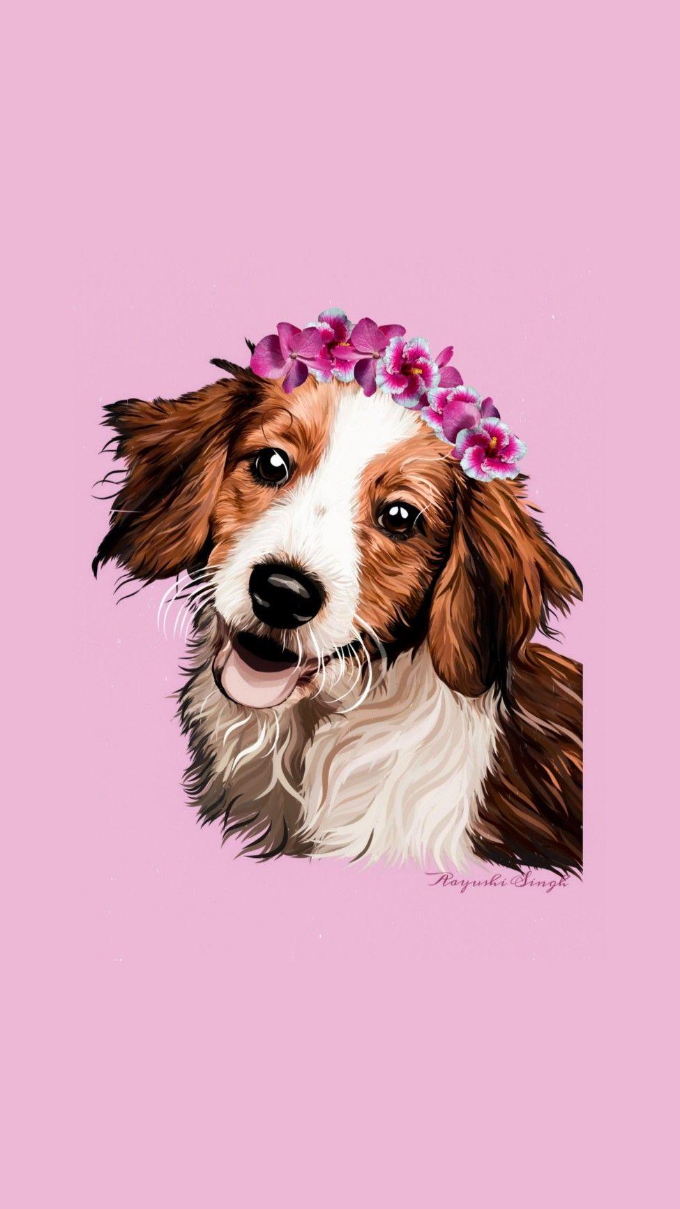 Doggo amazing wallpaper designed 🤩 #dogillustration #dogwallpaper #illustration #wallpaper