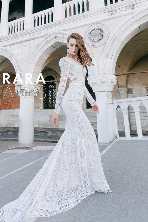 Wedding dress Jane by Rara Avis. Elegant chic long sleeves V-neck ...