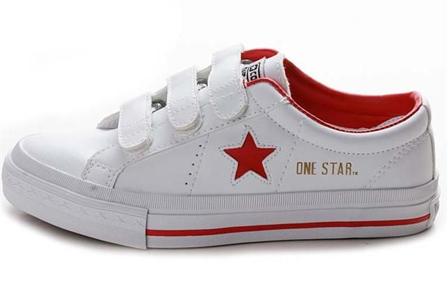 Converse One Star White Red Gold