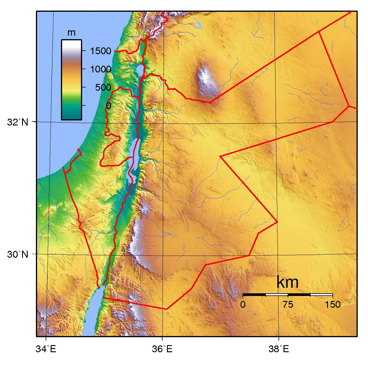 topographic map of ancient israel Image Result For Israel Topographic Map Topographic Map Middle