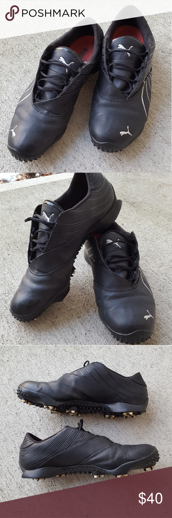 Puma Golf Shoes size 11 Puma Golf Shoes in very great condition. Size 11 and feels like you're not wearing shoes at all, more like a snug pair of socks!! I used these for 1 season and then broke my shoulder and haven't swung a club since, forgot I had them. Will make someone's golf game better! Will LOVE them!!! Puma Shoes Athletic Shoes #shoegame