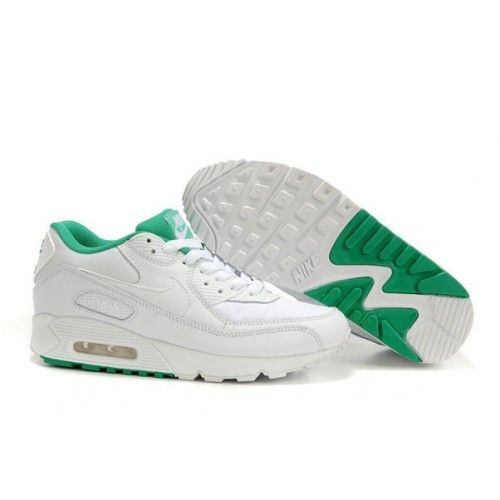 pretty nice b0f42 3b3a1 Official Nike Air Max 90 Leather White Green Womens Sneaker