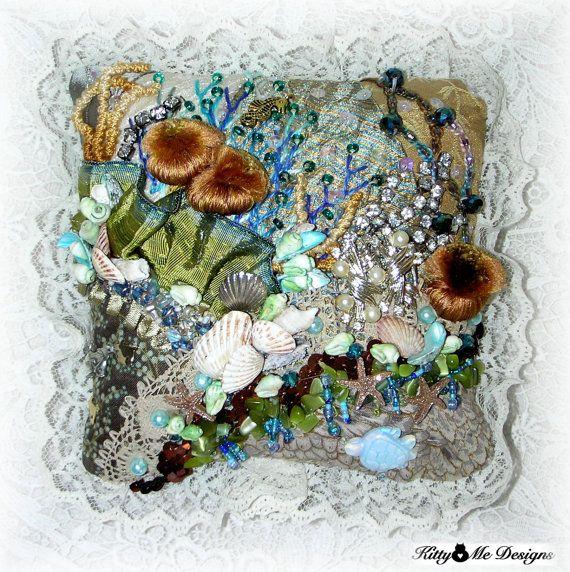 Summer Bowl Fillers Seashells Home Decor Seascape by Kittyandme