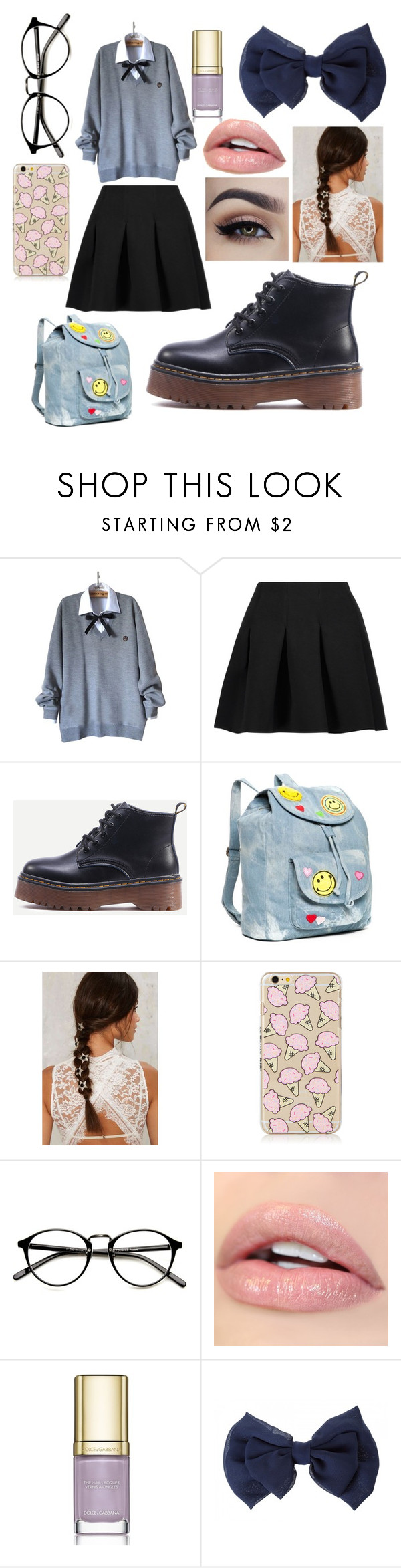 """Cute"" by emjaycat ❤ liked on Polyvore featuring T By Alexander Wang, Red Camel and Dolce&Gabbana"
