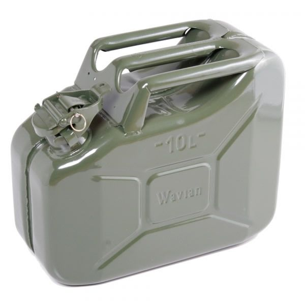 2 64 Gallon 10 Liter Olive Drab Steel Wavian Jerry Can Spout Included Jerry Can Bug Out Vehicle Metal
