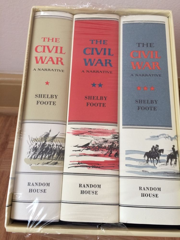The Civil War A Narrative By Shelby Foote 3 Volume Book Set Hardcover Random Ebay Shelby Foote History Books Book Set