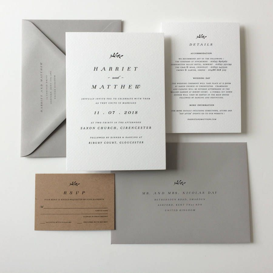 White And Kraft Wedding Invitations | Pinterest | Gray, Weddings and ...