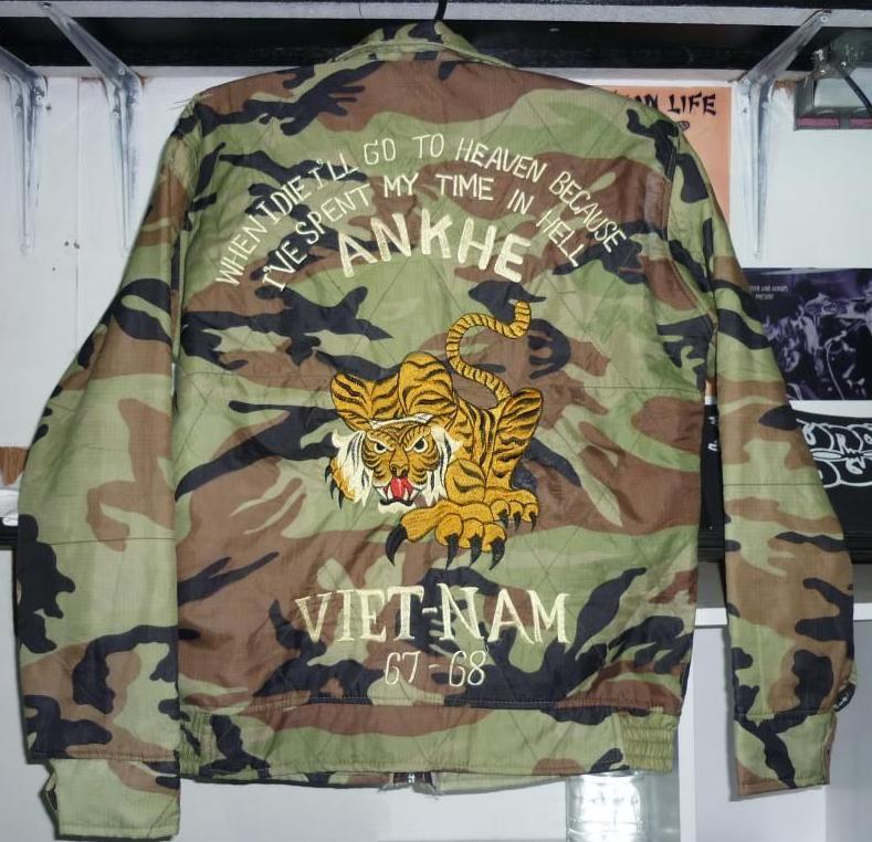 7db3c68c9 Vietnam souvenir jacket. Embroidery tiger, vintage, military, camu ...