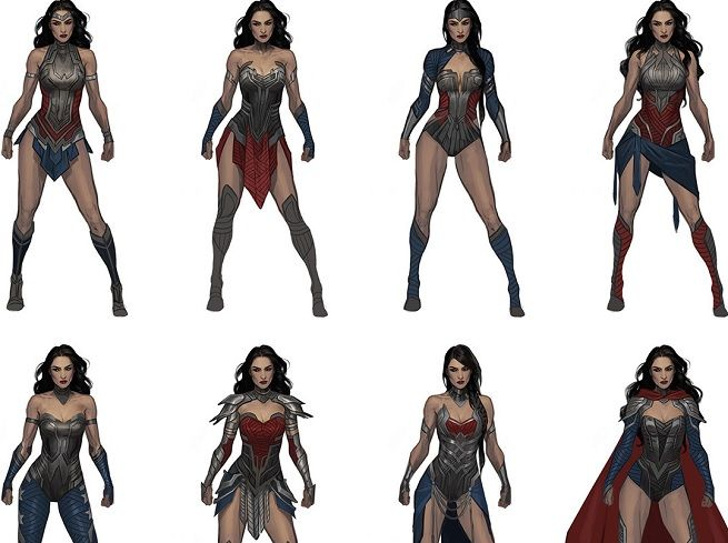 Injustice 2 Concept Designs Vs Final Designs Which Are Better Wonder Woman Cosplay Warrior Woman Super Hero Costumes