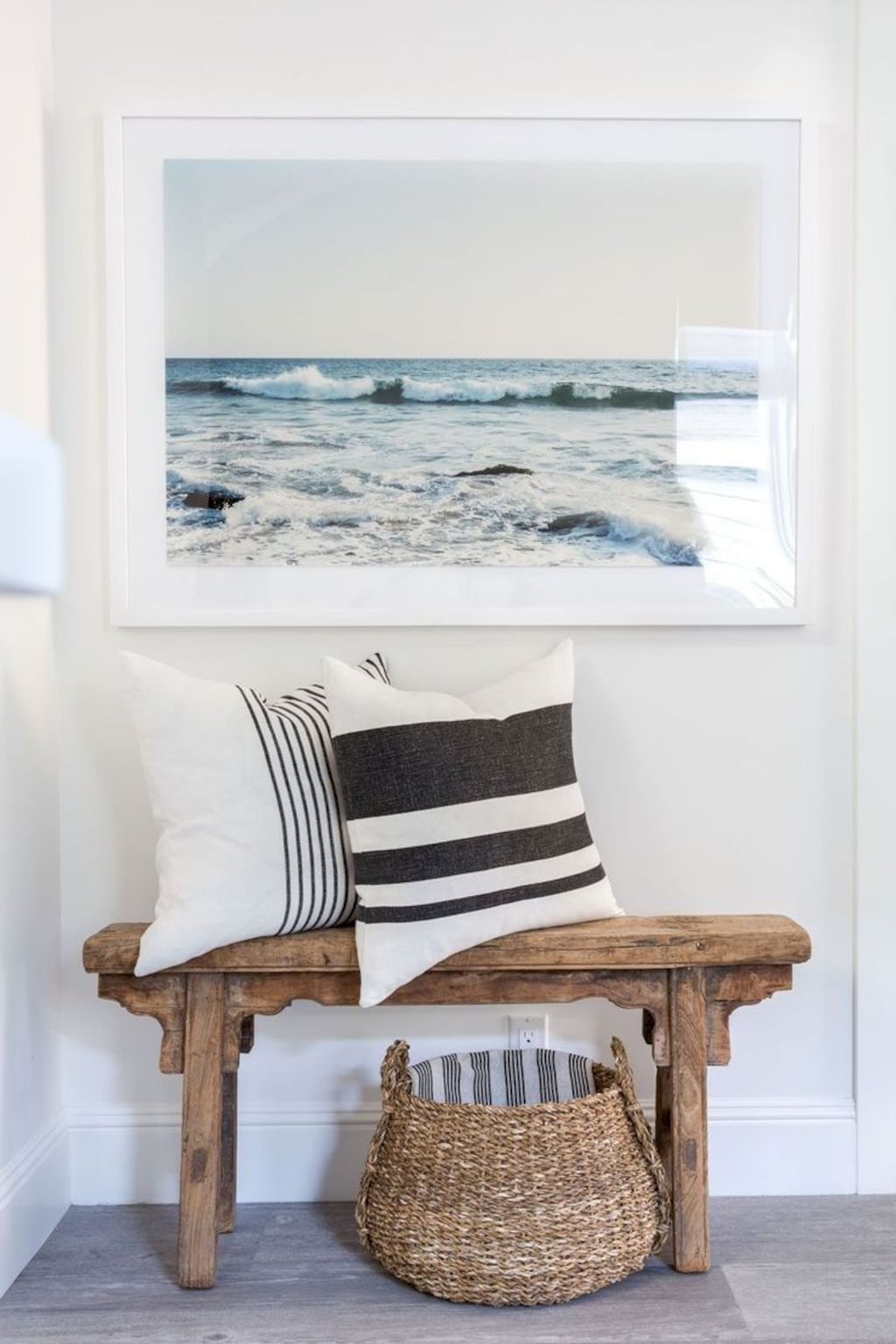 Coastal Chic Decoration With Nautical Accessories Showing A Fresh