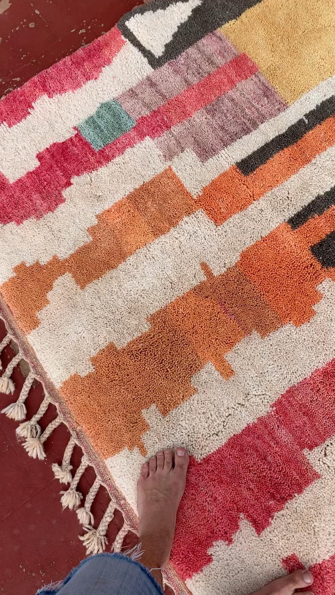Colorful handmade rug - illuminate collective rugs