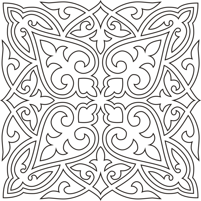 Скачать казахский орнаменты трафареты шаблоны