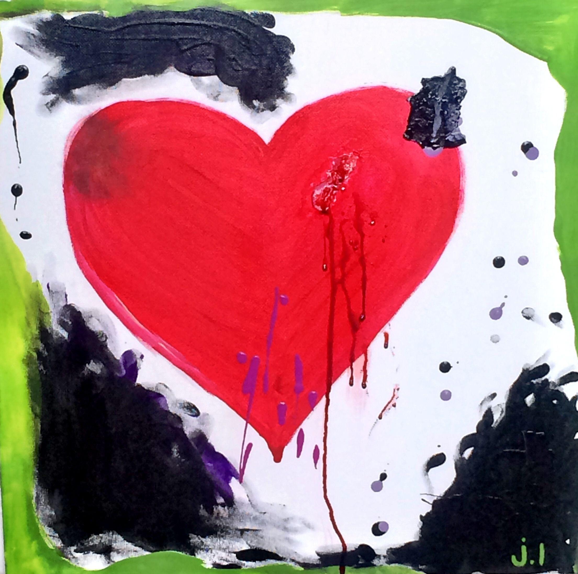 """For Sale: """"He ate my heart"""" by Johnny Luoma   $100   20""""w x 20""""h   Original Art   http://www.vangoart.co/buy/art/he-ate-my-heart @VangoArt"""