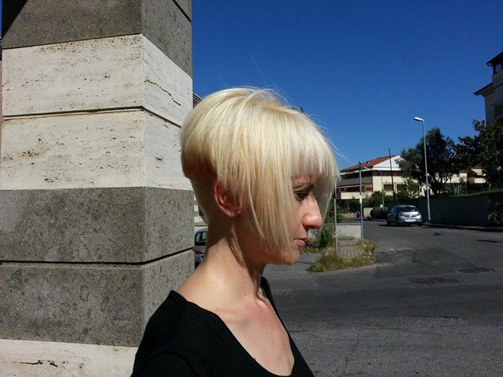 Bleached With Buzzed Nape