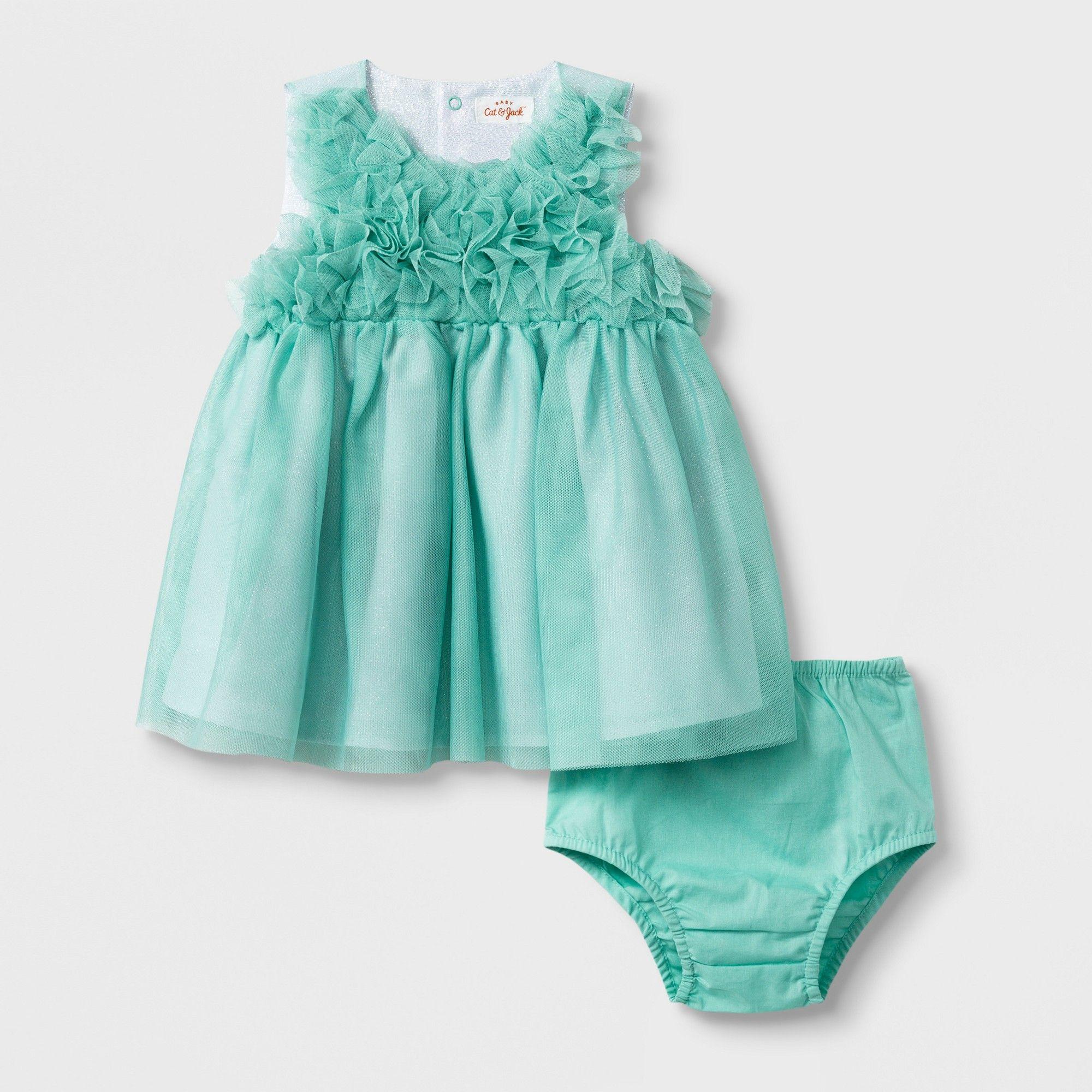 8efe0ea6c5 Baby Girls' Ruffle Bodice Dress - Cat & Jack Alpine Green 24M ...