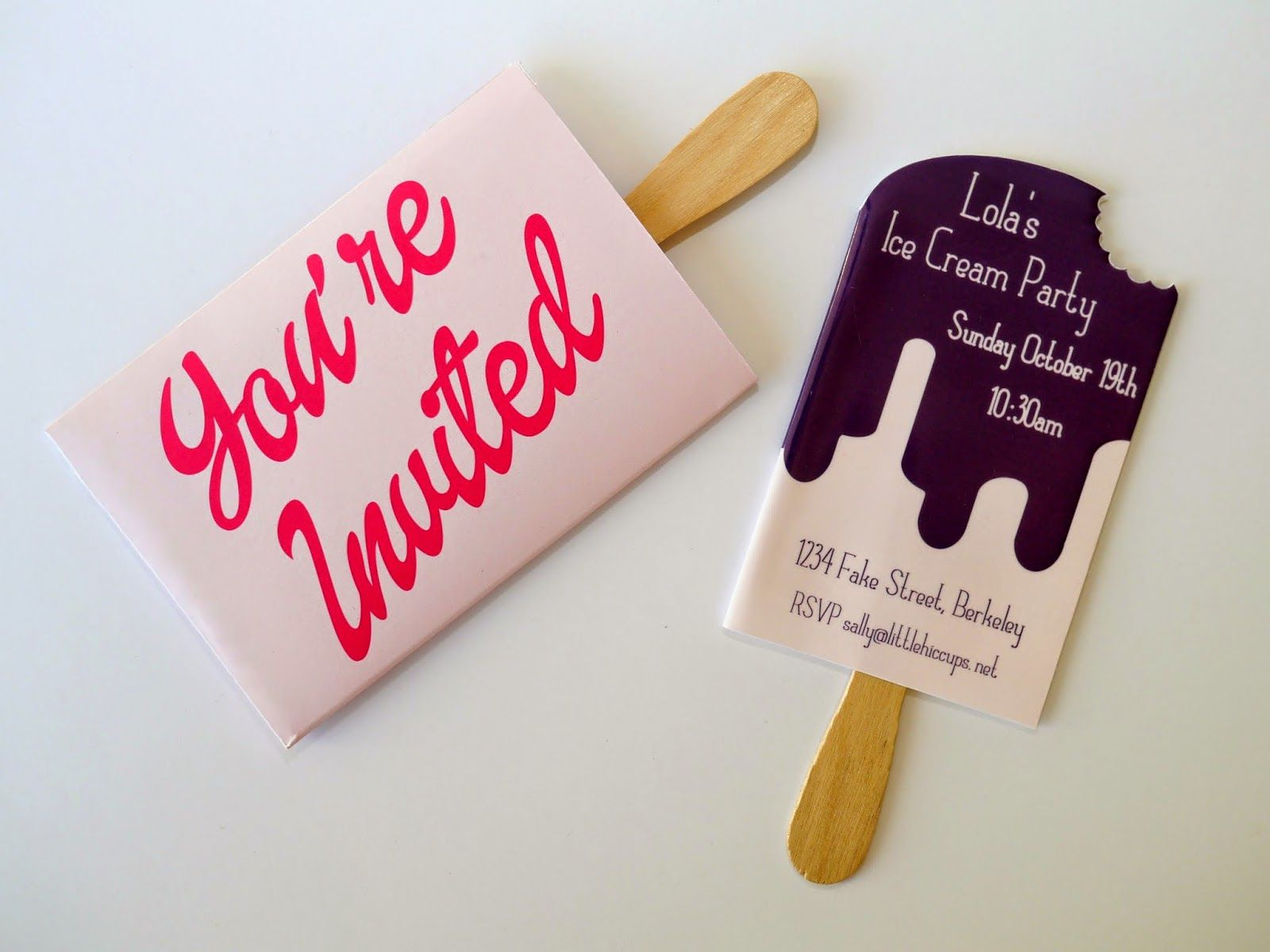 Little Hiccups: Ice Cream Party Invites | this would make a totally ...