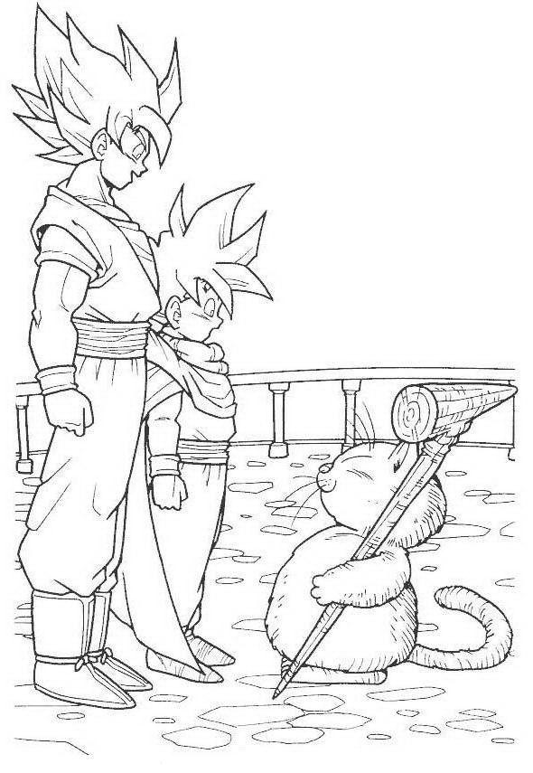 Dragon Ball Z Ausmalbilder. Malvorlagen Zeichnung druckbare nº 26 ...