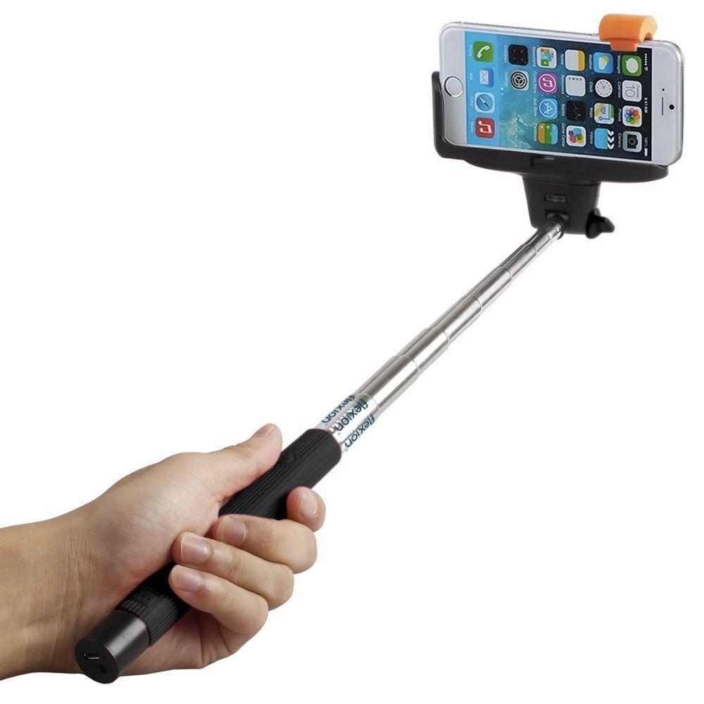 Extendable Selfie Stick Monopod Remote Bluetooth Shutter For