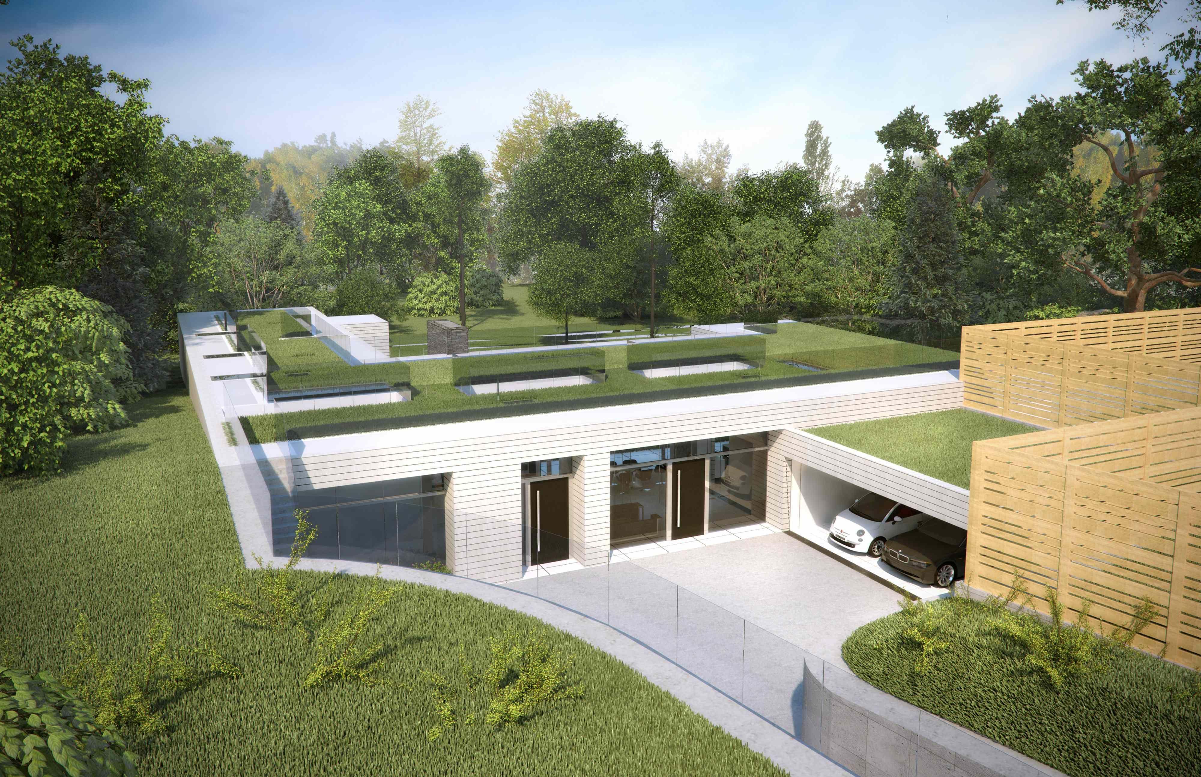 Sunken house nicolas tye architects grand design for Grand designs modern house