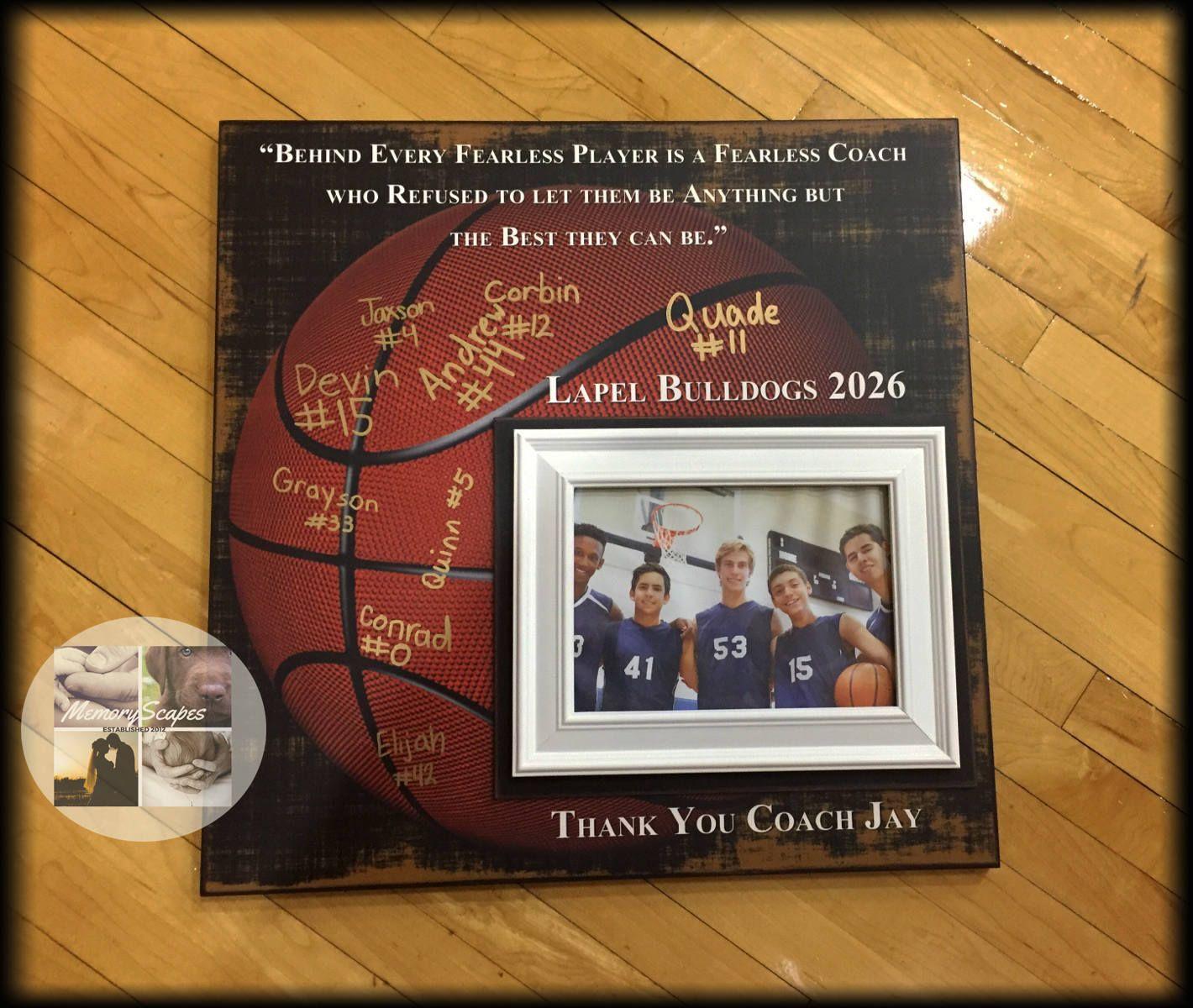 Basketball coach gift coach appreciation custom coach