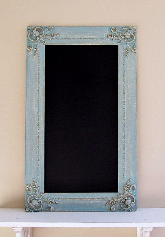 turquoise chalkboard blue christmas decor kitchen chalkboard vintage