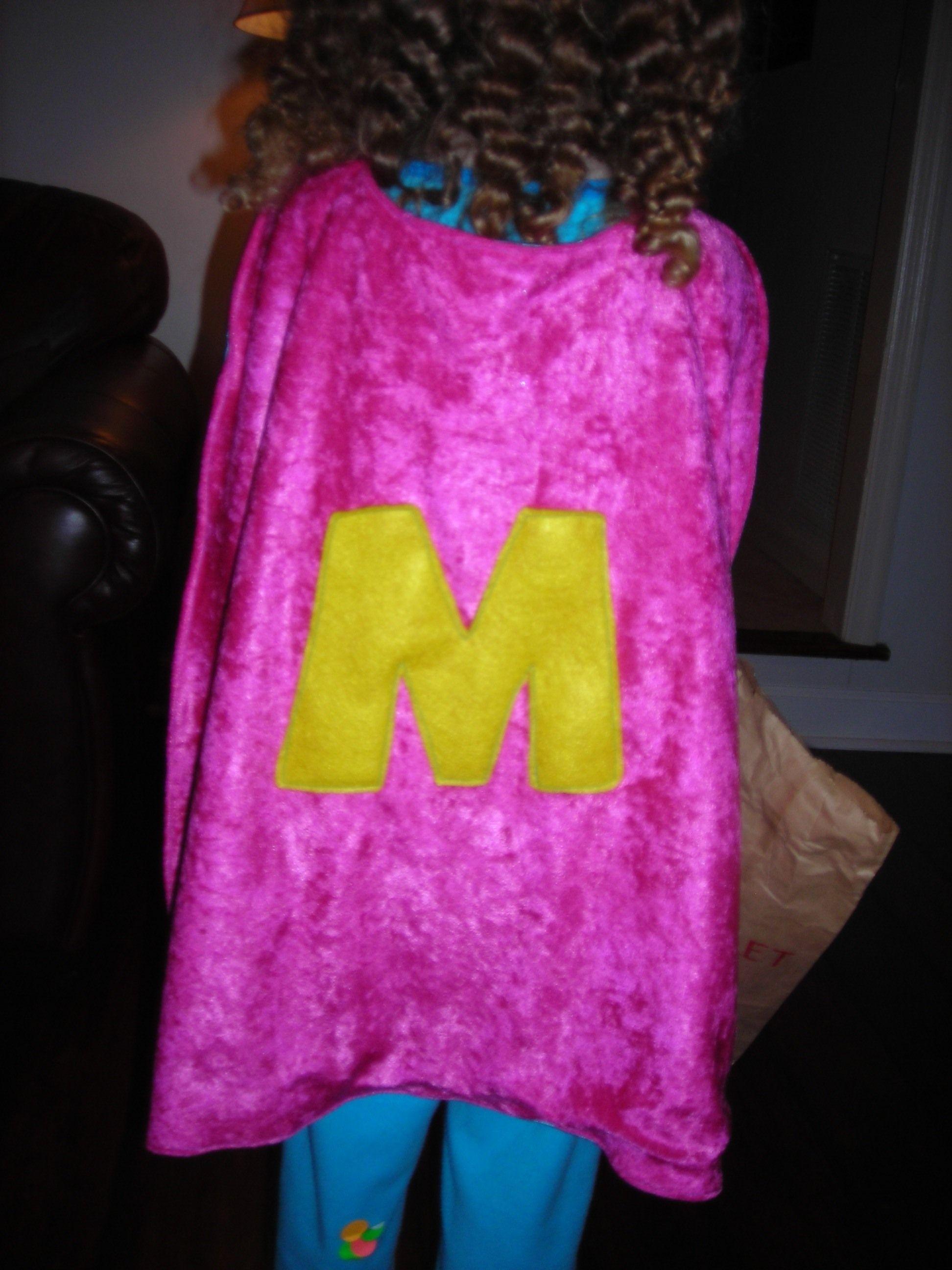 Monogrammed girl cape!