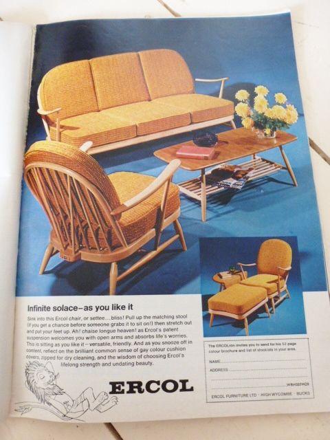Admirable Vintage 1960S Furniture Adverts Ercol Wood Loveseat Retro Uwap Interior Chair Design Uwaporg