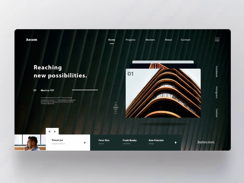 Architectural Firm Landing Page Architecture Firm Landing Page Website Design