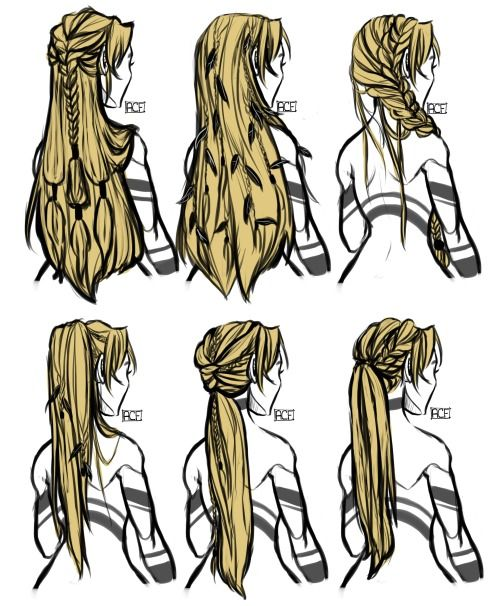 Enza Braiding Lily S Hair In A Few Traditional Dewin Styles Hair Reference How To Draw Hair Anime Hair