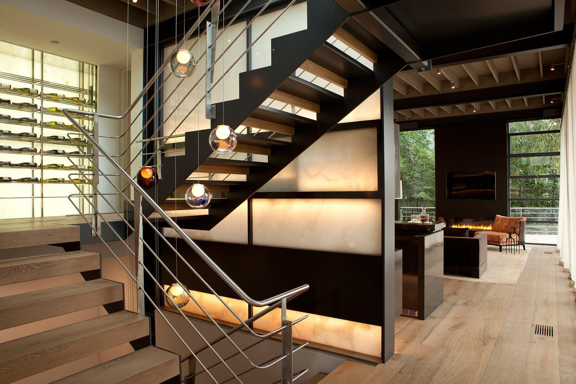 Konzept, Treppe, Industrie Stil Wohnzimmer, Industrieller Stil,  Innenarchitektur, Innenarchitektur, Modernes