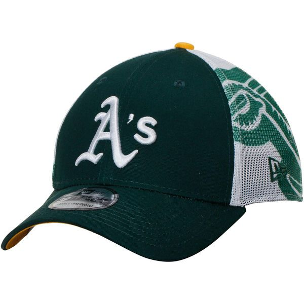the latest outlet free delivery Men's Oakland Athletics New Era Green/White Logo Wrapped 39THIRTY ...