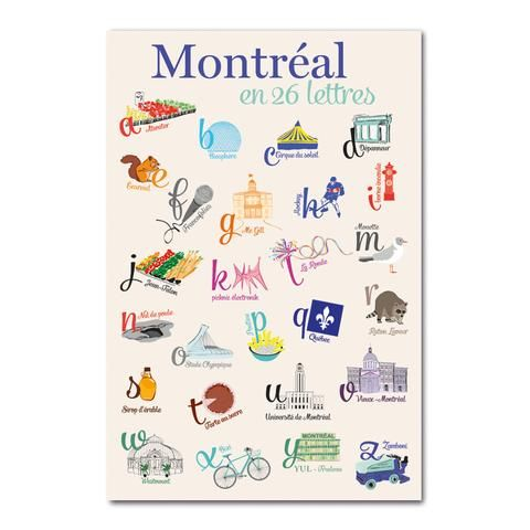 Montreal En 26 Lettres Montreal Carte Canada Carte Postale