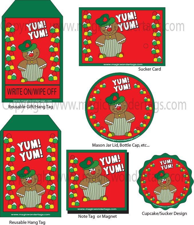 Gingerbread Designed Reusable Gift Tags And Hang Tags. A