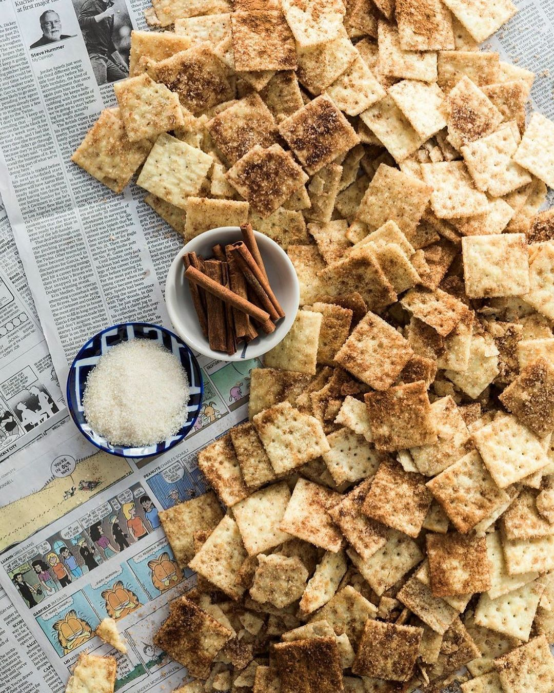 Cinnamon Sugar Saltines #cinnamontoastcrunch
