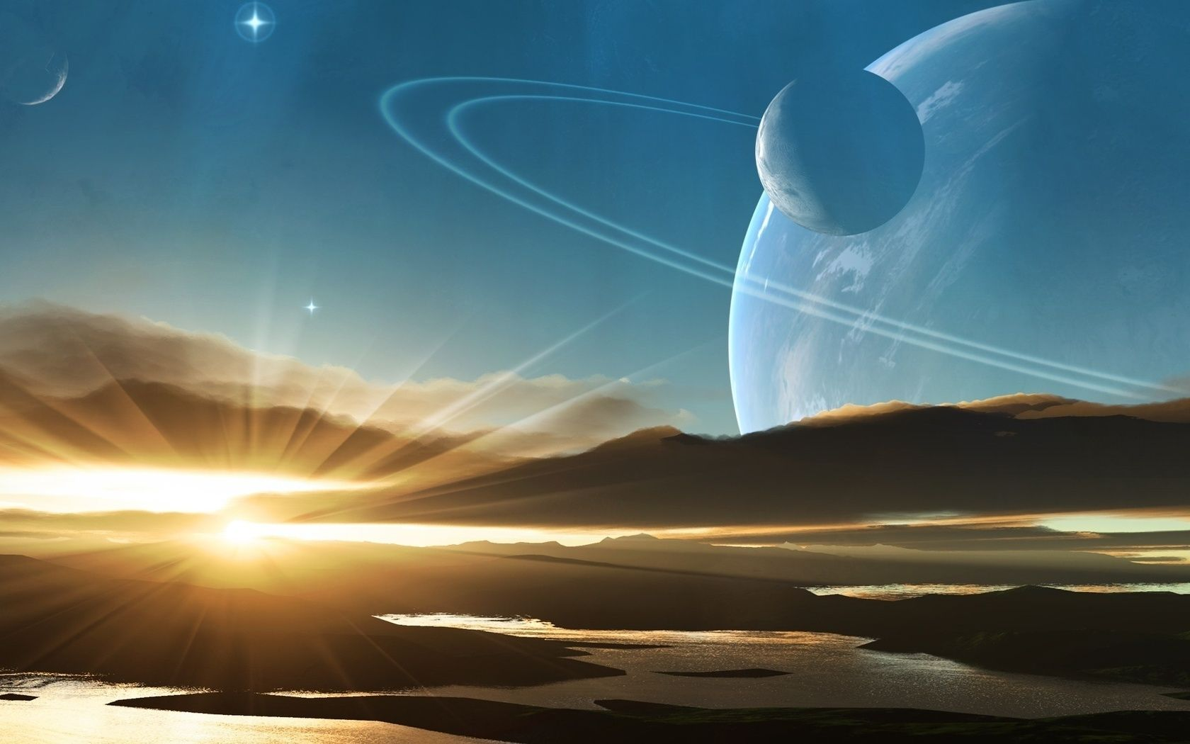 Alien Planets | Download wallpaper sky, sunset, alien ...