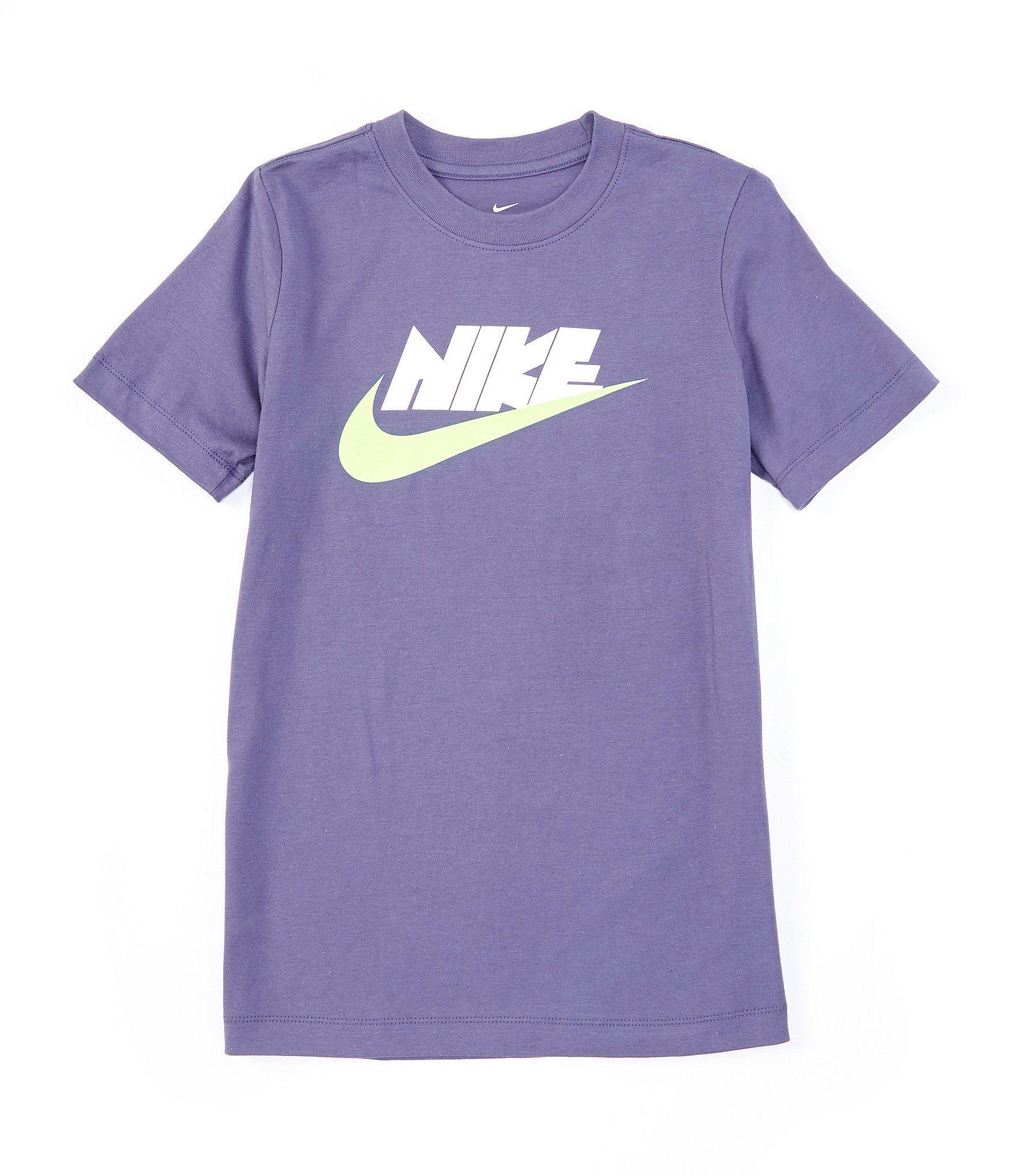 Nike Big Boys 8 20 Short Sleeve Block Logo Tee Sanded