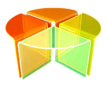 Multi Color Acrylic Coffee Table Cocktail Table Table It