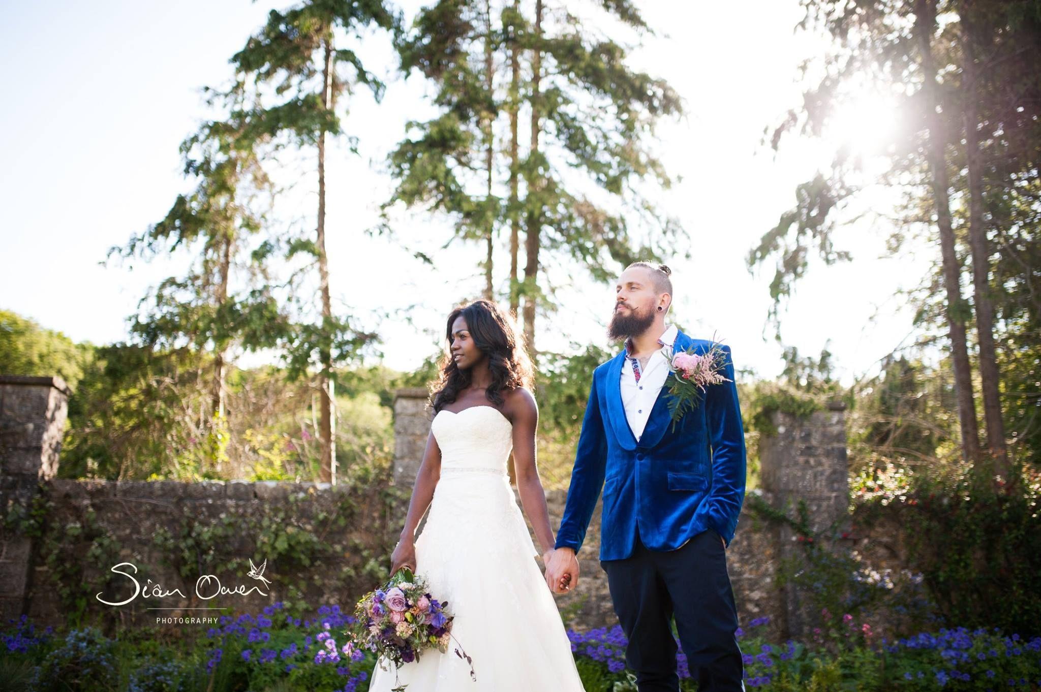 Sian owen photography style shoot blue garden at st donatus