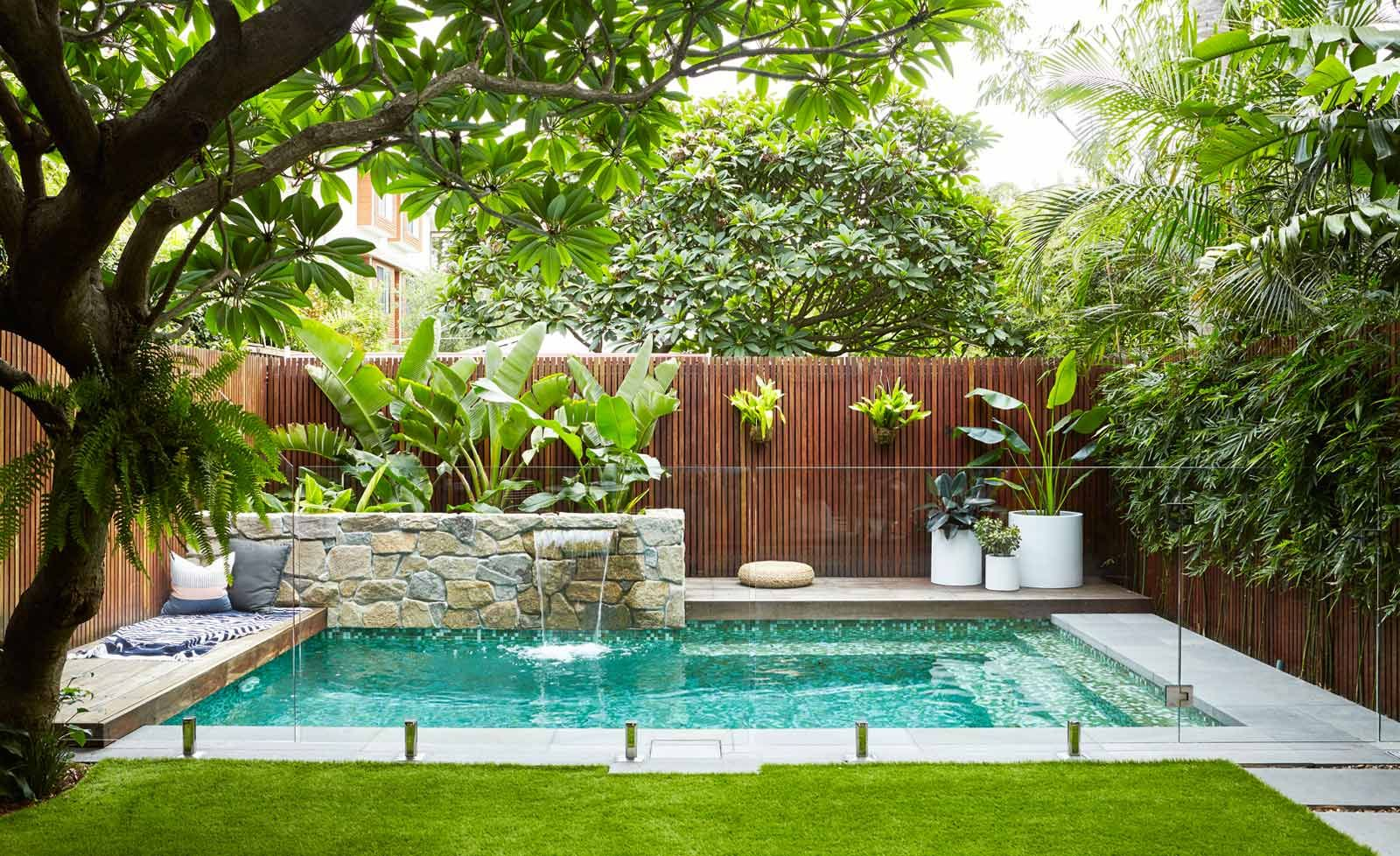 Swimming pool garden  Image result for plunge pool landscaping | swimming pools ...