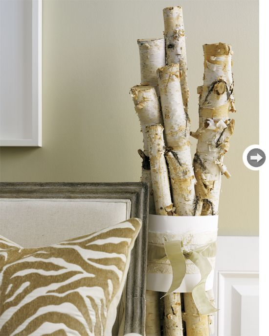 Kaylin Dekker Something To Do With The Birch Branches For Wedding Wrap Varying Heights Of In White Paper And Secure Ribbon