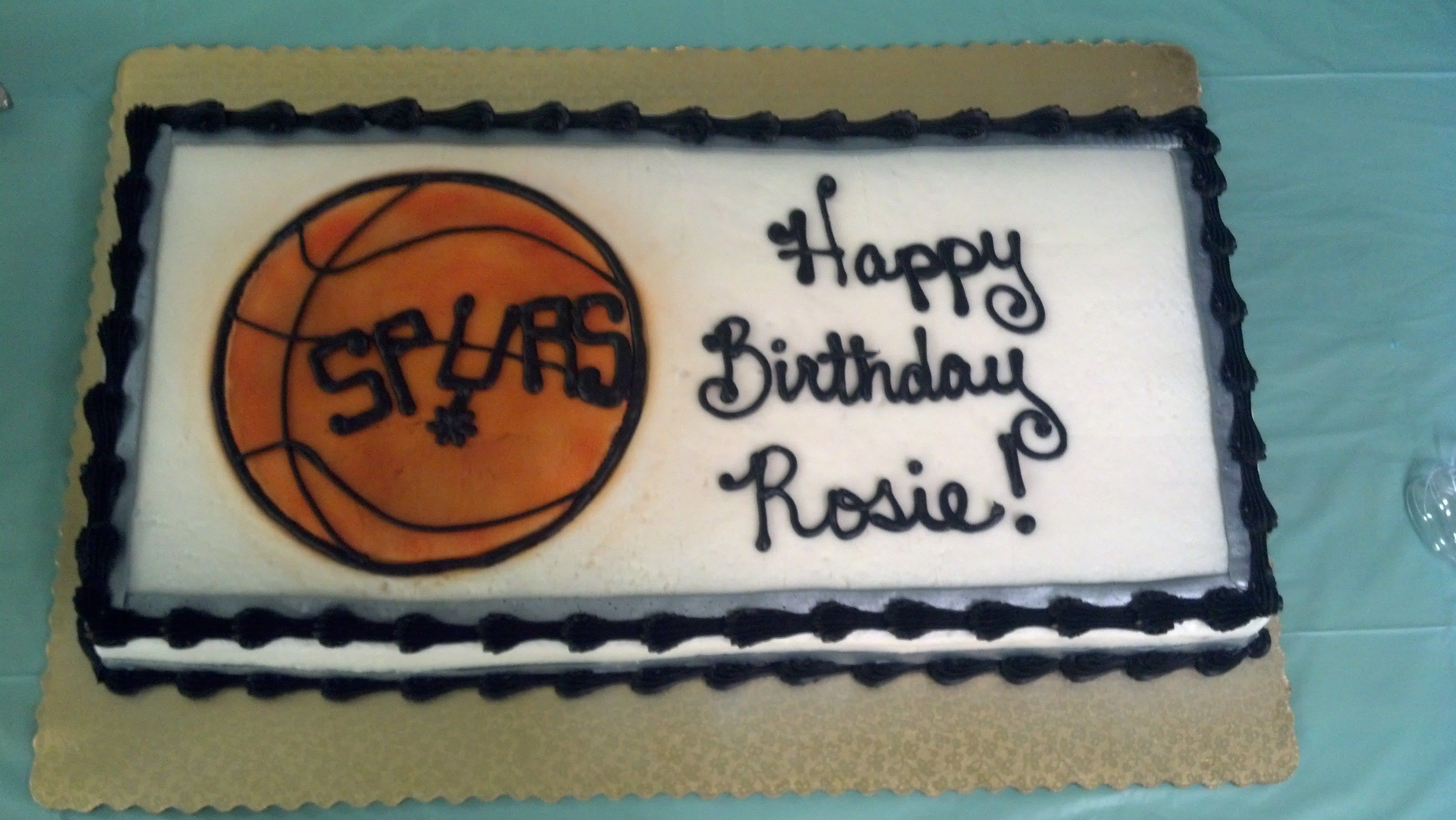 San Antonio Spurs Birthday Cake Birthday Party Cakes Pinterest
