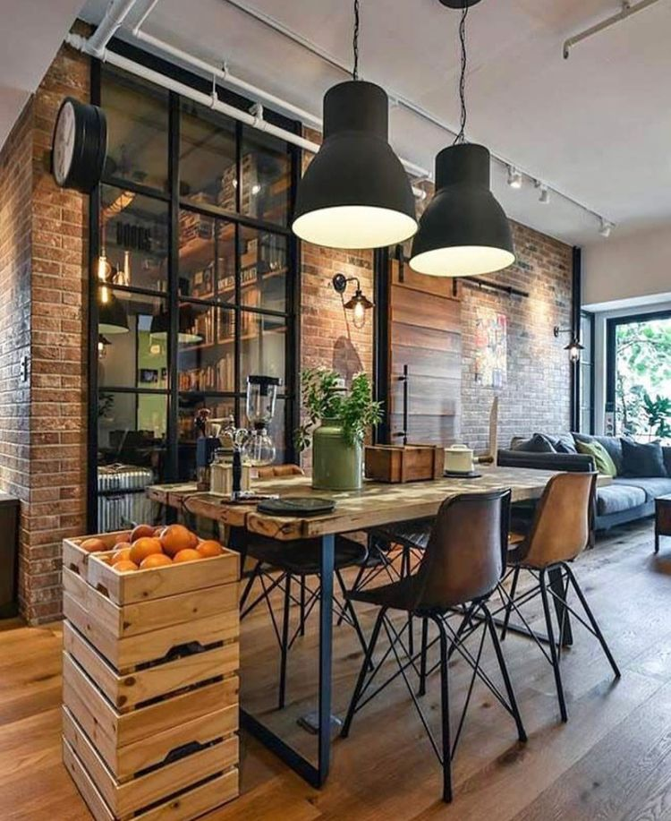 Industrial Meets Rustic Dining/living Area. THIS Is My