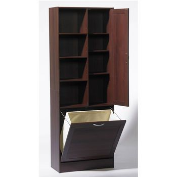 4d Concepts Bathroom Storage Tower With Pull Out Hamper